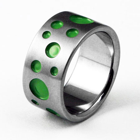 Titanium Polka Dot Ring