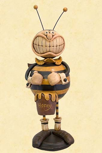 Bee Boy Clay Sculpture