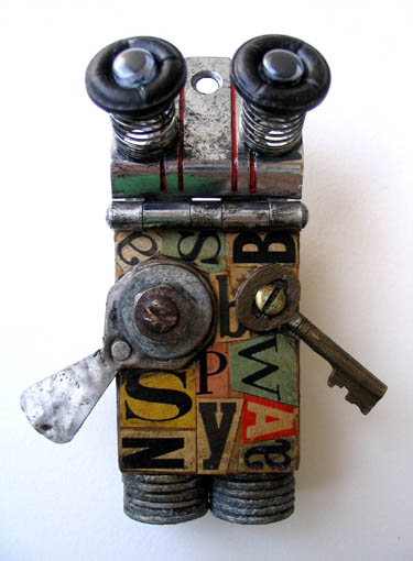 Found Object Robot Assemblage