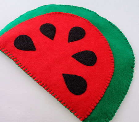 Eco-Friendly Felt Watermelon Kindle eReader Case