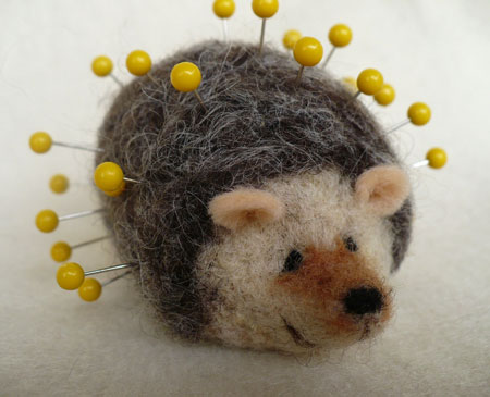 Needle Felted Hedgehog Pincushion