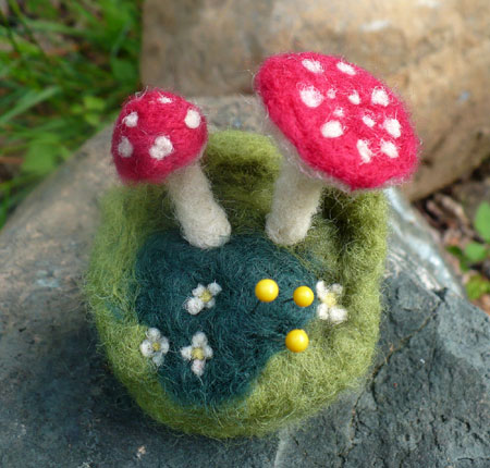 Needle Felt Mushroom Pin Cushion