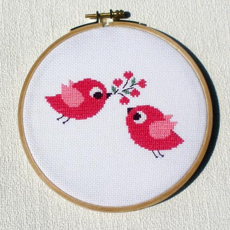 Two Birds Cross-Stitch