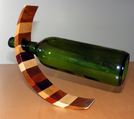 Cresent Wine Bottle Balance Rack