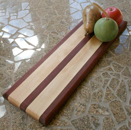Purple Heart and Birch Cutting Board