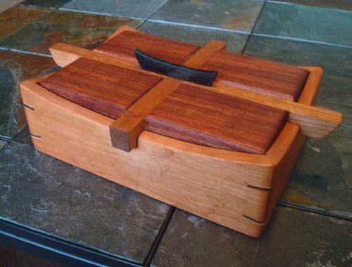 Handmade Cherry & Bubinga Keepsake Box