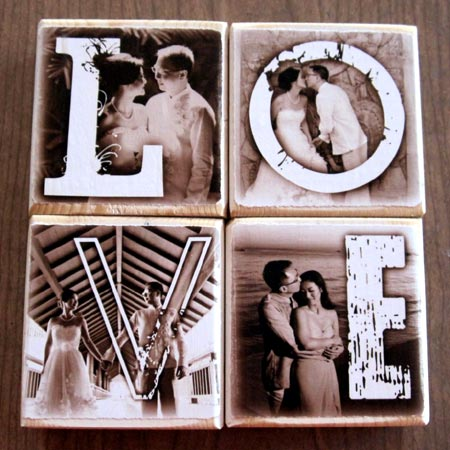Personalized Photo Letter Blocks