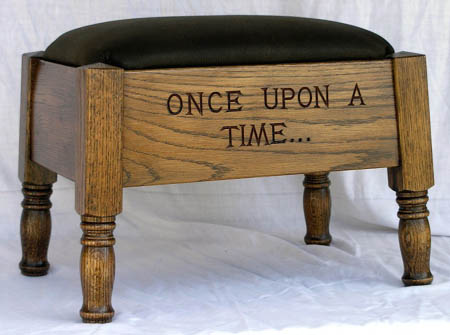 Recycled Oak Storybook Footstool