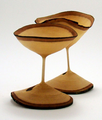 Wooden Carved Goblets