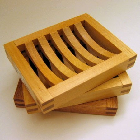 Hand Crafted Wooden Soap Dishes