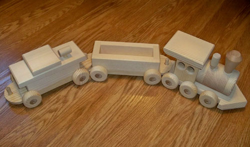 Handmade Wooden Toy Train