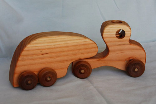 Wooden Toy Trucks And Trailers for Pinterest