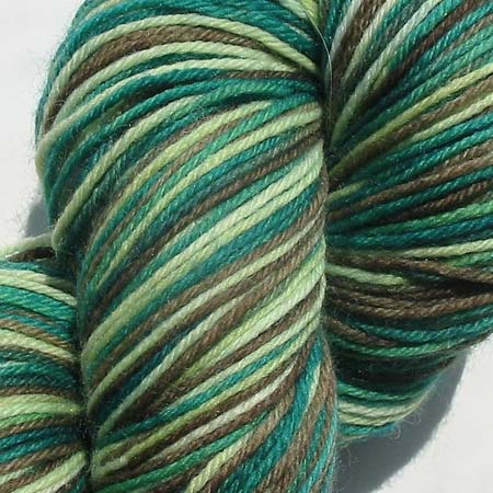 Hand-Dyed Green Sock Yarn