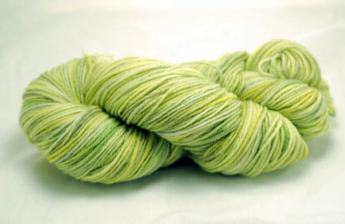 Green Merino Superwash Sock Yarn