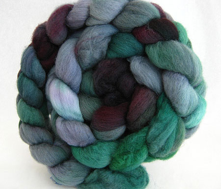 Hand Painted Green And Maroon Merino