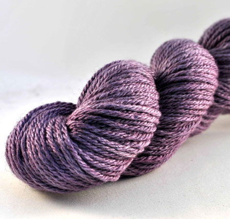 Purple Merino and Silk Yarn